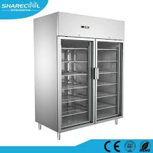 cooling glass door commercial freezer