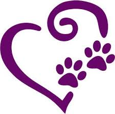 Swirly Heart Paws Decal Pawprints Paw Print Dog Cat Vinyl Car Decal Laptop Decal Car Window Sticker Yeti Tumbler Sticker 15x14 Cm White Wish