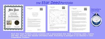 star deed name a star services the