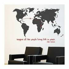 Mia Co World Monde Wall Map Of The World Giant Peel Stick Wall Decal Mural Ebay