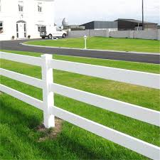 Ranch Fence White Vinyl Fence Plastic Horse Fencing Buy Horse Fence Pvc White Vinyl Fencing Vinyl Fence Ranch Product On Alibaba Com