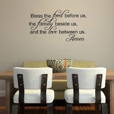 Bless The Food Before Us Vinyl Wall Decal Quotes Home Sticker Decor Walmart Com Walmart Com