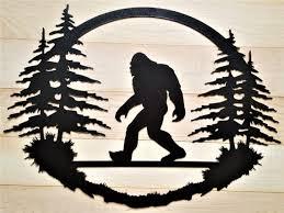 Bigfoot Big Foot Sasquatch Art Yeti Welcome Sign Metal Cabin Bigfoot Art Bigfoot Drawing Art