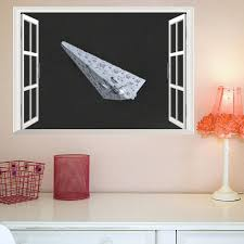 3d False Window Wall Decor Space Ship Wall Stickers Drawing Room Bedroom Home Decor Diy Scenery Poster Mural Wallpaper Wall Decals Stickers For Your Wall Stickers On The Wall From Topboom 2 39