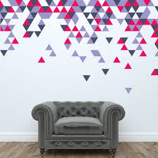 Geometric Abstract Triangle Wall Stickers Geometric Wall Art Geometric Wall Office Wall Design