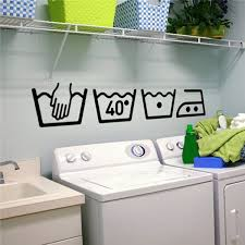 Vinyl Wall Decals Cleaning Instructions Laundry Room Bathroom Wall Stickers Home Decor Toilet Decal Diy Art Murals Wish