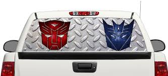 Product Transformer Logo Autobot Decepticon Rear Window Decal Sticker Pick Up Truck Suv Car 3