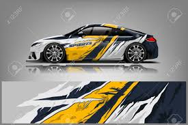 Car Decal Wrap Design Vector Graphic Abstract Stripe Racing Royalty Free Cliparts Vectors And Stock Illustration Image 121082521