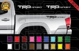 Trd Sport Decals Toyota Tundra Tacoma Truck Bed Vinyl Stickers X2 2012 2020 Ebay