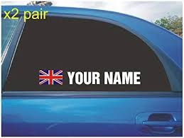 Your Name Rally Race Car Window Sticker Decal Union Jack Uk British Flag White X2 All Colours Amazon Co Uk Car Motorbike Car Window Stickers Window Stickers Rally