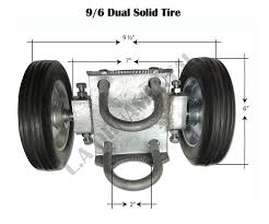 Dual Solid Tire 9 6 Rolling Gate Carrier Wheels Chain Link Fence Rut Runner
