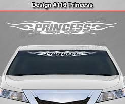 Design 116 Princess Windshield Window Tribal Flame Vinyl Sticker Decal Sticky Creations