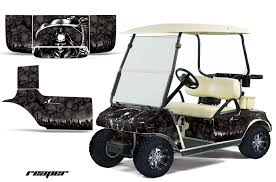 Custom Club Car Golf Cart Graphics Wrap Kits In Over 40 Designs Available