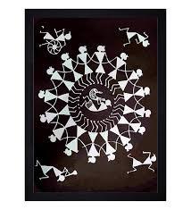 ethnic dhokra and warli art
