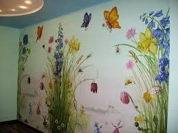 Rozpis Dityachih Poslugi Hudozhnika Flower Mural Wall Murals Painted Fairy Mural