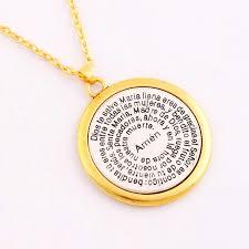 amen round pendant necklaces