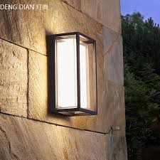 Modern Outdoor Lighting Waterproof Led Industrial Wall Lamps Aluminum Garden Wall Lights White Porch Lights Balcony Corridor 9w Outdoor Wall Lamps Aliexpress