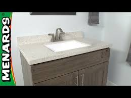 how to install a vanity top menards