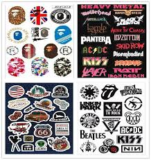 4pcs A4 Rock Guitar Sticker Retro Band Music Logo Sign Car Decal Suitcase Skateboard Sticker Waterproof Guitar Parts Accessories Aliexpress