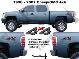 4x4 Truck Bedside Vinyl Decal Fits Chevrolet Silverado Gmc Sierra Hd Roe Graphics And Apparel