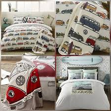 vw campervan bedding duvet cover set