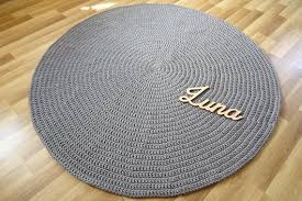 large rug circle grey braided rug round