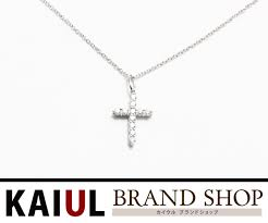 tiffany mini cross necklace white gold