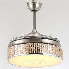 retractable blade folding fan light