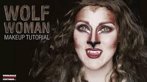 glam werewolf makeup tutorial