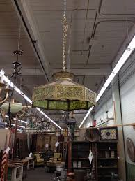 antique slag glass hanging shade the