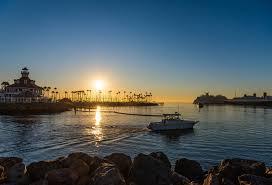 usa long beach nature ship sunrises