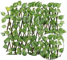 Amazon Com N P Artificial Ivy Privacy Fence Screen Artificial Hedges Fence And Faux Ivy Vine Leaf Decoration Durable Wooden Trellis Plant Privacy Screen For Garden Wall Decoration Outdoor Decor Home Kitchen
