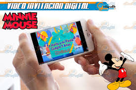 Mickey Video Invitacion Digital Mickey Digital Invitation Video