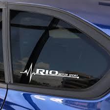 2pcs Auto Window Trim Car Side Window Stickers For Kia Rio 3 4 K2 K3 X Line Auto Decor Reflective Vinyl Decals Car Accessories Buy At The Price Of 2 99 In Aliexpress Com