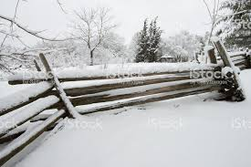 Heavy Snow Covered Farm Fence In Ontario Canada Stock Photo Download Image Now Istock