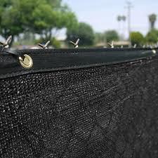 Home Aesthetics 6 X 50 Black Fence Windscreen Privacy Screen Shade Cover Fabric Mesh Garden