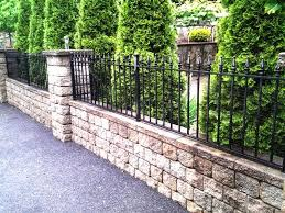 Pin By Salem Fence Co On Wrought Iron Fence Backyard Fences Fence Landscaping Front Yard