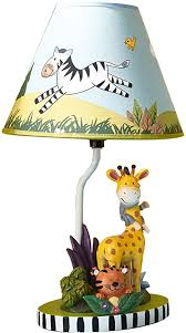 Amazon Com Fantasy Fields Sunny Safari Animals Thematic Kids Table Lamp Imagination Inspiring Hand Painted Details Lead Free Water Based Paint For Kid S Bedroom Giraffe Monkey Multicolor Toys Games