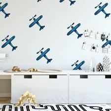 Blue Airplanes In 2020 Kids Room Wall Kids Room Wall Decor Kids Wall Decor