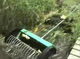 lakerakes pond weed rake on wheels