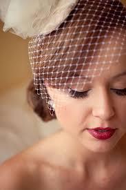 40s makeup birdcage veil wedding ideas