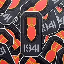 Historic Eod 1941 Red Bomb Brassard Matte Vinyl Sticker Eod Etsy