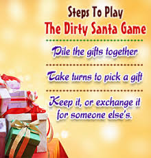 instructions to play dirty santa game