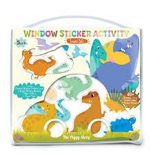 Window Sticker Activity Dinosaur World Black Wagon Kids
