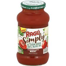 ragu simply pasta sauce flavored with