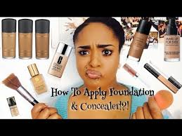 how to apply foundation concealer