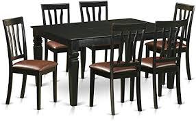 wean7 blk lc 7 pc dinette table