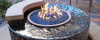 ga fire pit glass stone grill idea