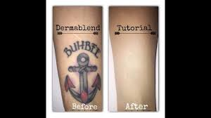 dermablend tattoo cover up tutorial