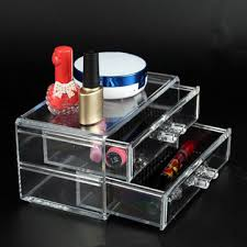 acrylic clear makeup drawers cosmetic